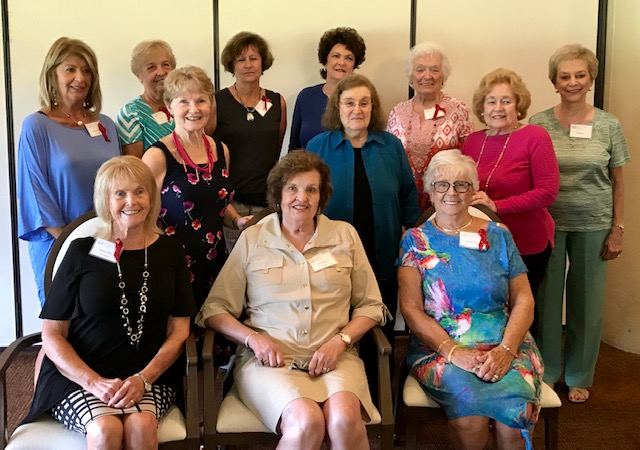 Back Row left to right; Kathleen Allen, Jan Lane, Joan Greene, Leslie Kudla, Doris McCowen, & Pat Peters